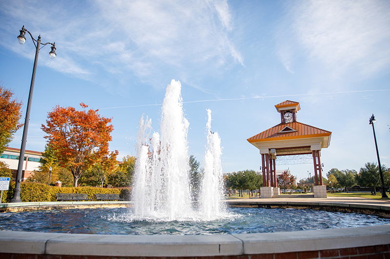 The fountain in Tuscaloosa's Government Plaza