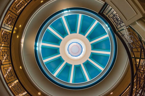 The rotunda from inside Bruno Business Library
