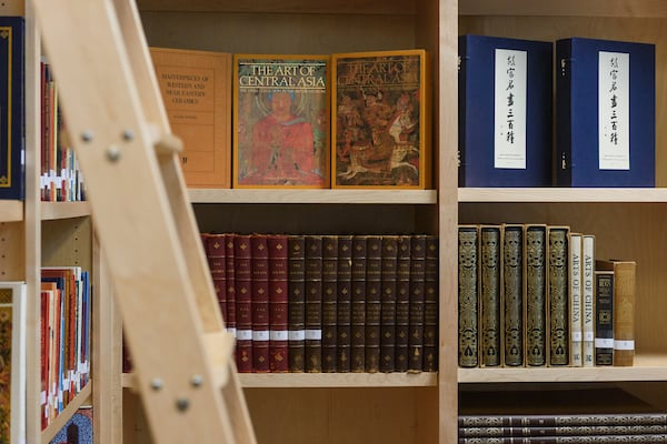 Publications and books on the shelves of the special collections library