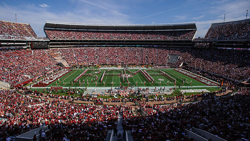 Bryant Denny Stadium on gameday