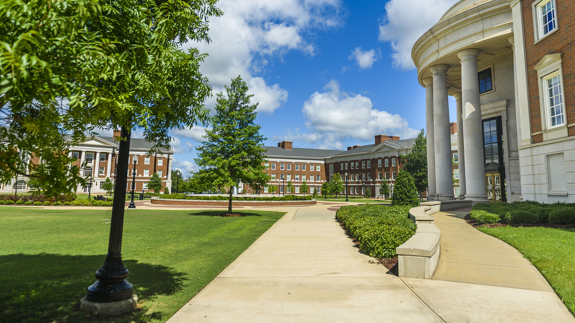 A view of the Science and Engineering Quad.