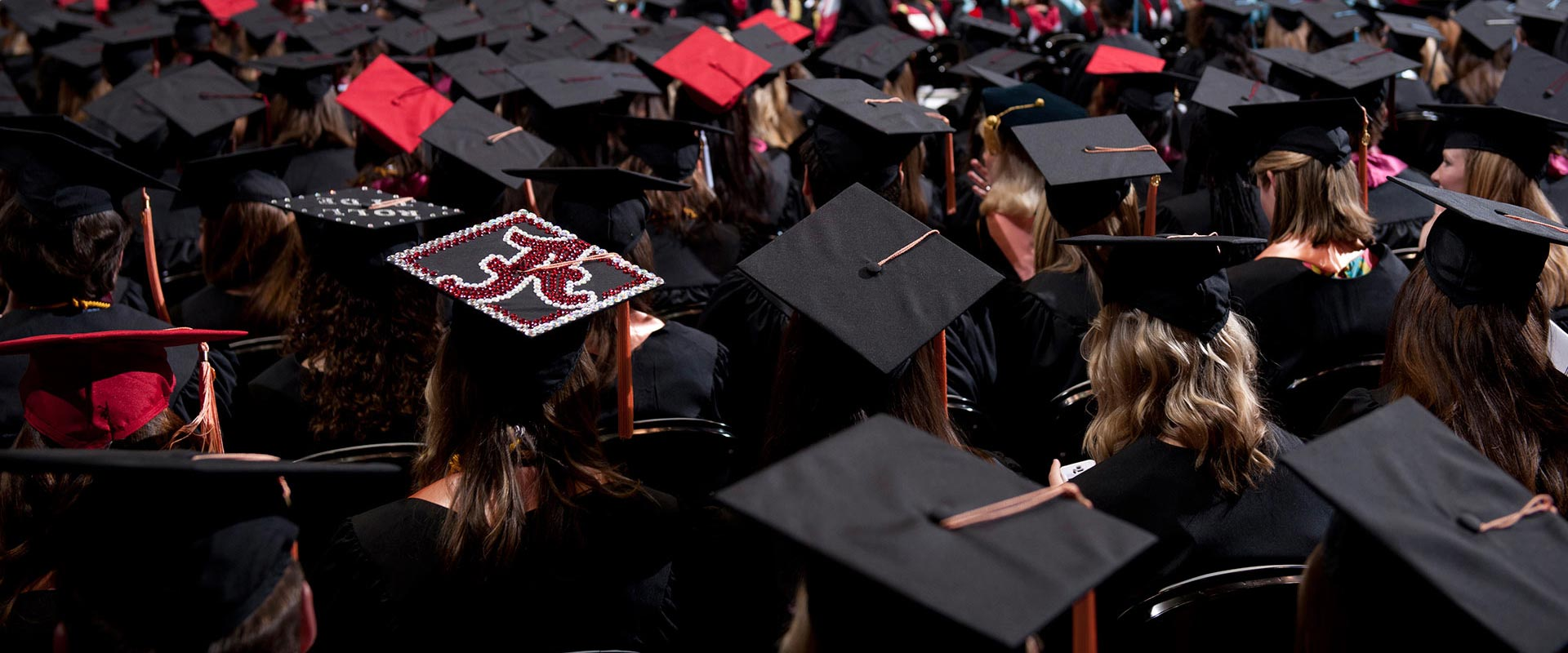A University of Alabama commencement ceremony