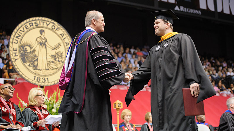 A UA commencement ceremony