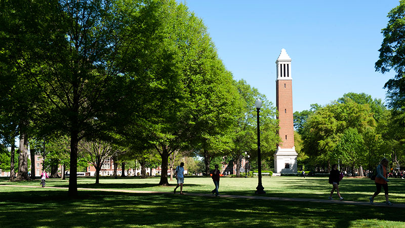 Denny Chimes on the Quad