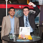 UA engineering students Nagaraj Hegde, left, and Matthew Bries were recognized for their design of an activity tracker at the TI Innovation Challenge Design Contest in North America. Photo courtesy of Texas Instruments.