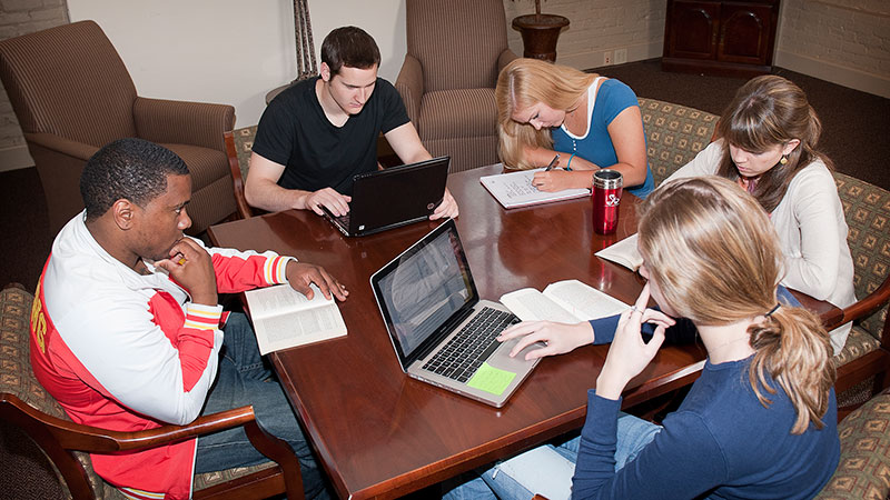 A group of students participating in a study group