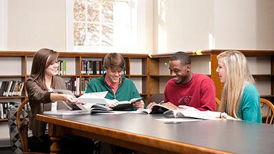 Students discussing politics
