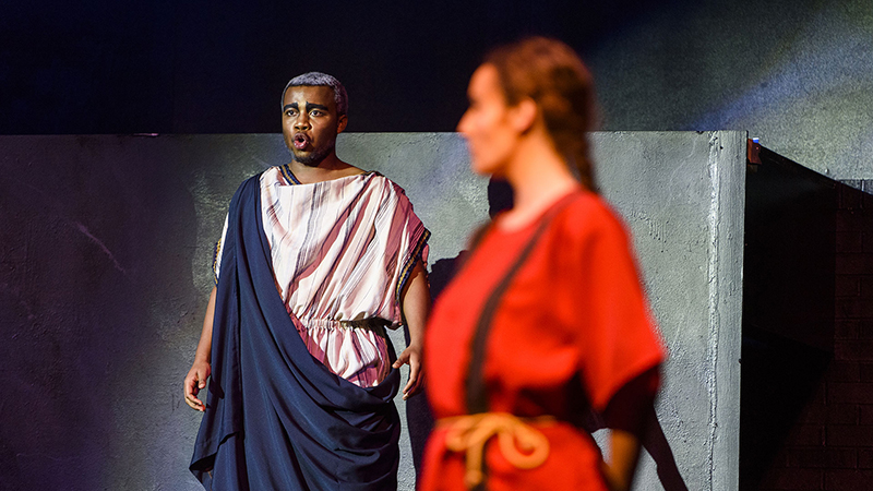 Students in a play