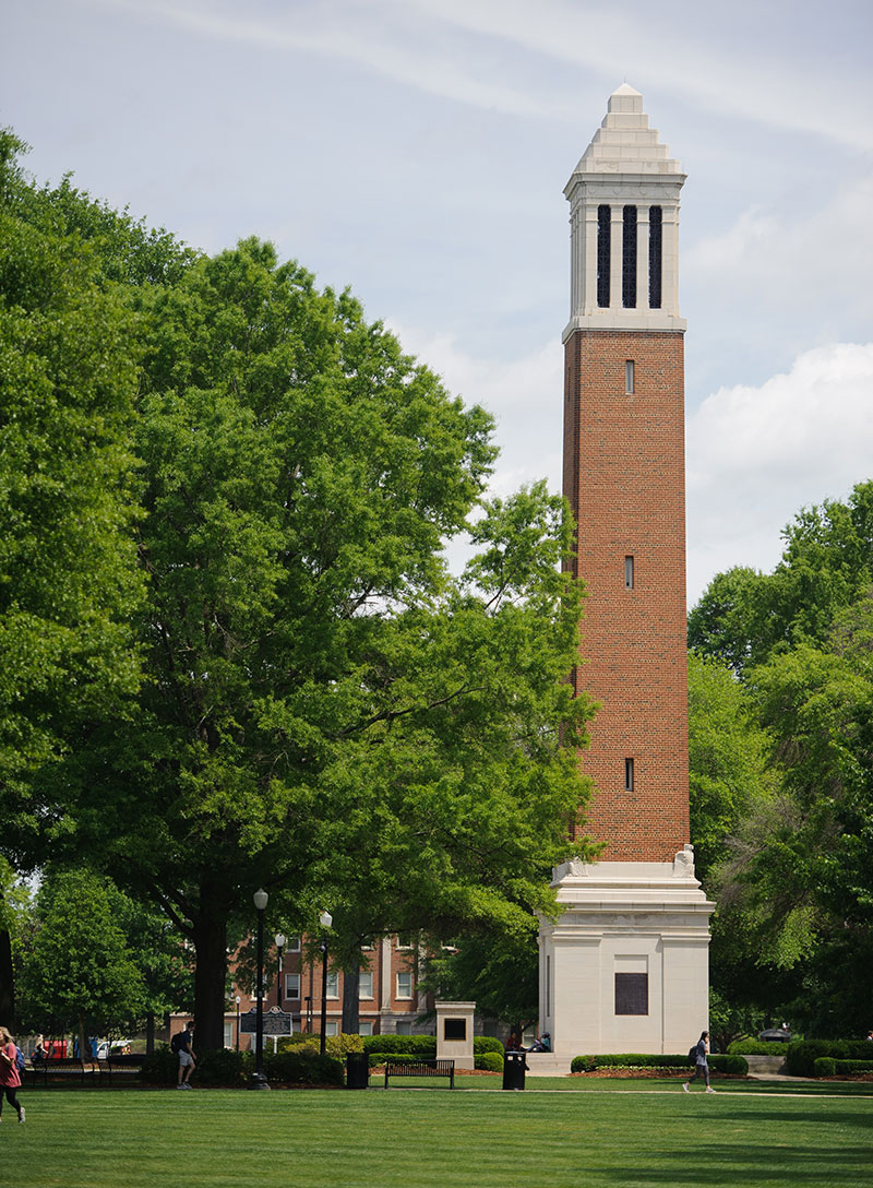 Denny Chimes and the UA Quad