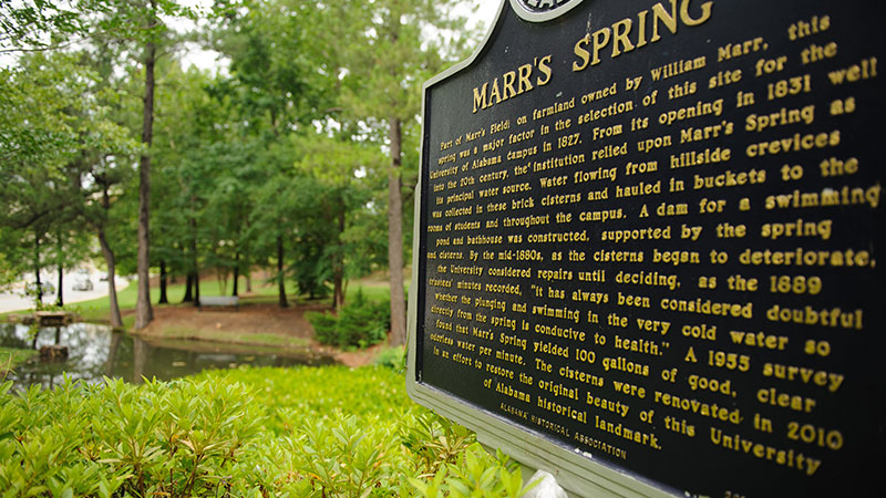Marr's Spring and its historical marker